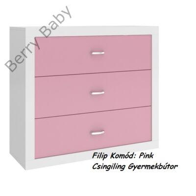 Filip COLOR komód: rózsaszín