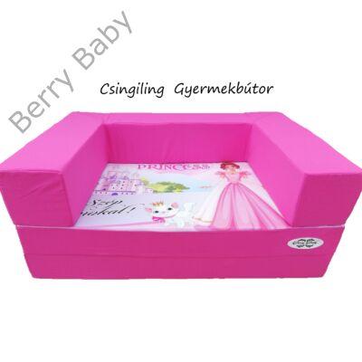 Berry Baby DIAMOND szivacs kanapéágy és hempergő, felnőtt méretben:  Pink - Princess
