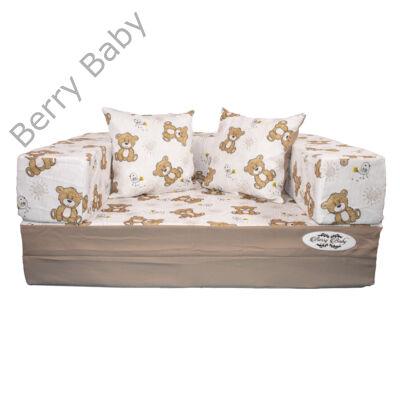 Berry Baby DIAMOND szivacs kanapéágy és hempergő, gyerek méretben: Kávé - Bear