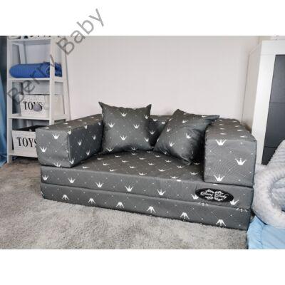 Berry Baby DIAMOND szivacs kanapéágy és hempergő, gyerek méretben:  Szürke - Chesterfield