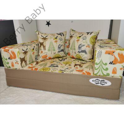 Berry Baby DIAMOND szivacs kanapéágy és hempergő, felnőtt méretben:  Kávé - Forest