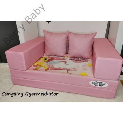 Berry Baby DIAMOND szivacs kanapéágy és hempergő, gyerek méretben:  Puncs - Pony