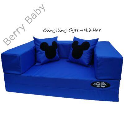 Berry Baby SUNSHINE szivacs kanapéágy és hempergő, felnőtt méretben: Királykék (Mickey fantázia díszpárnákkal is kérhető)