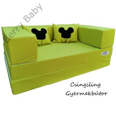 Berry Baby SUNSHINE szivacs kanapéágy és hempergő, felnőtt méretben: Kiwi (Mickey fantázia díszpárnákkal is kérhető)