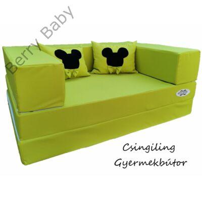 Berry Baby WEXTRA szivacs kanapéágy és hempergő, gyerek méretben: Kiwi (Mickey fantázia díszpárnákkal is kérhető)