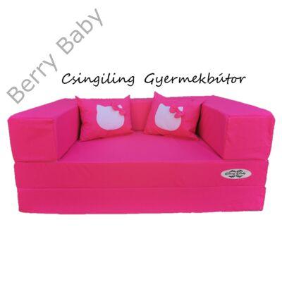 Berry Baby WEXTRA szivacs kanapéágy és hempergő, felnőtt méretben: Pink (Hello Kitty fantázia díszpárnákkal is kérhető)