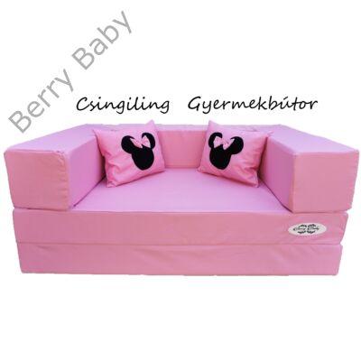 Berry Baby WEXTRA szivacs kanapéágy és hempergő, gyerek méretben: Puncs (Minnie fantázia díszpárnákkal is kérhető)