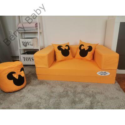 Berry Baby WEXTRA szivacs kanapéágy és hempergő, felnőtt méretben: Narancs (Minnie fantázia díszpárnákkal is kérhető)
