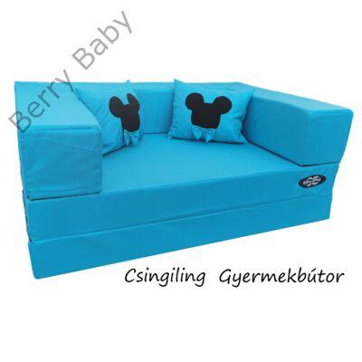 Berry Baby WEXTRA szivacs kanapéágy és hempergő, felnőtt méretben: Türkizkék (Mickey fantázia díszpárnákkal is kérhető)
