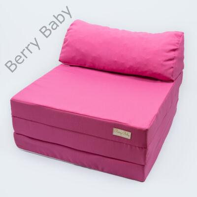 Berry Baby kihajtható szivacs pótágy/fotelágy ifjúsági méretben: Málna - 14 választható párnával