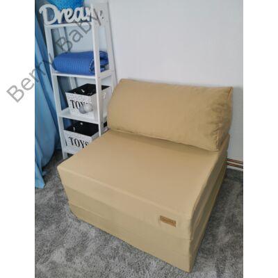 Berry Baby kihajtható szivacs pótágy/fotelágy ifjúsági méretben: Sötét bézs - 6 választható párnával