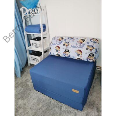 Berry Baby kihajtható szivacs pótágy/fotelágy ifjúsági méretben: Kék - 11 választható párnával