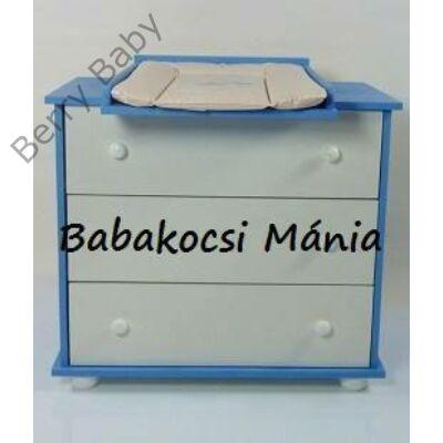 Berry Baby pelenkázó komód- AKCIÓS ÁRON- fehér/kék színben