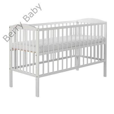 Kiságy (rácsos ágy): Tomi VII-fehér (Bemart MACIS mintával)