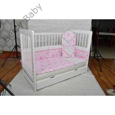 Baba- Mama ágy (babaöböl)+ ÁGYNEMŰTARTÓ -Kiságy Tomi XXI- hófehér ... e997788fae