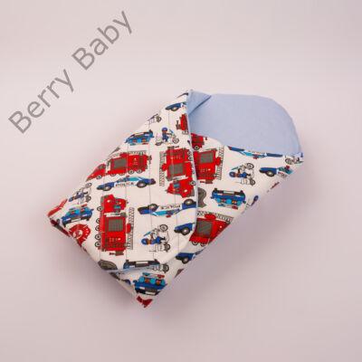 Berry Baby Exclusive kókusz pólya kivehető gerinctámasszal: Police