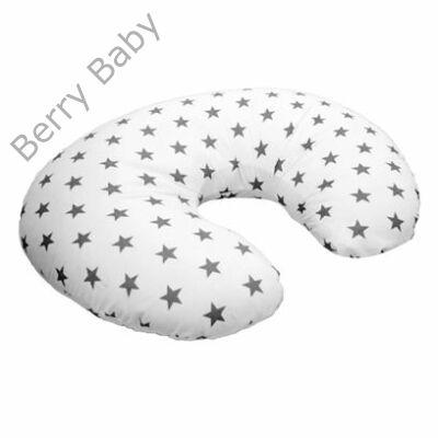 Szoptatós párna HUZAT- Dream  fehér alapon szürke nagy csillag d45b6a4202