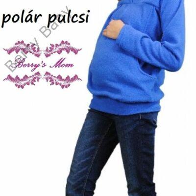 576bd32d67c5 Kismama polár pulóver: kék -L - Polár pulóver kismamáknak