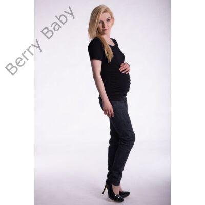 d88402cae Rövid ujjú kismama póló: L/XL Fekete +választható LÁB LENYOMAT ÉS FELIRAT