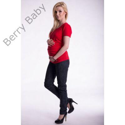 10a7f3a57 Rövid ujjú kismama póló: S/M piros +választható LÁB LENYOMAT ÉS FELIRAT