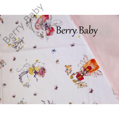 Berry Baby Töltött lepedő szabvány EU bölcsődei és óvodai gyermekágyra: fehér alapon tündéres