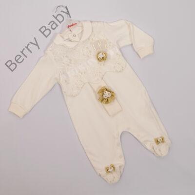 """Kislány alkalmi ruha- kb. """"68"""" méretű babára -hajpánttal"""