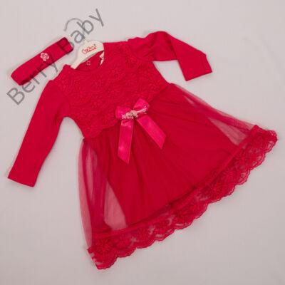 Kislány alkalmi ruha- kb. 1 éves gyermekre -hajpánttal