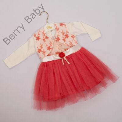 Kislány alkalmi ruha- kb. 1 éves babára -2 részes