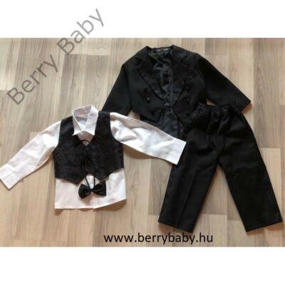5 részes alkalmi öltöny szett kisfiú- 2 éves -fekete frakk