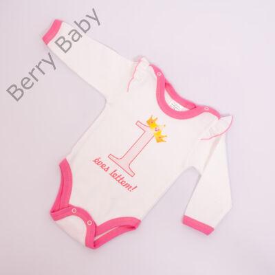 Szülinapos body- kislány- bővíthető 74-80- 1 éves