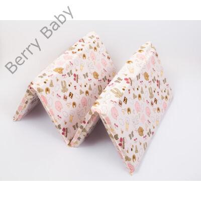 Berry Baby Harmonika matrac utazóágyba: rózsaszín babaruhás