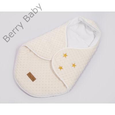 Berry Baby Lovely Stars bundazsák hordozóba: ekrü minky