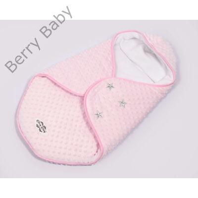 Berry Baby Lovely Stars bundazsák hordozóba: babarózsaszín minky