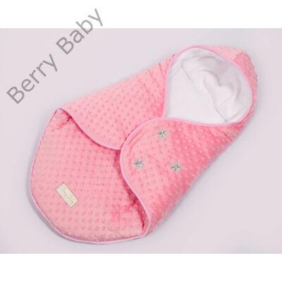 Berry Baby Lovely Stars bundazsák hordozóba: málna minky