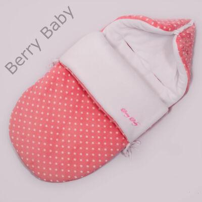 Berry Baby Klasszikus Bundazsák babahordozóba és mózesbe: rózsaszín pöttyös