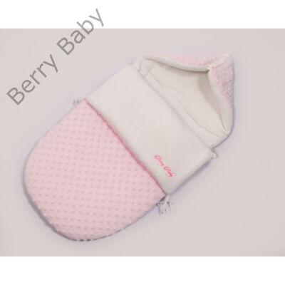 Berry Baby Klasszikus Bundazsák babahordozóba és mózesbe: rózsaszín minky
