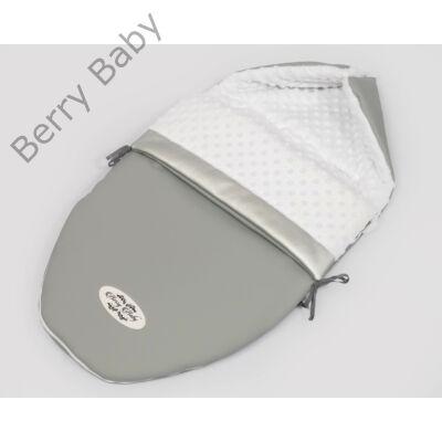 Berry Baby Crown bundazsák: Grey  -babahordozó autós ülésbe és mózesbe- ECO bőrből