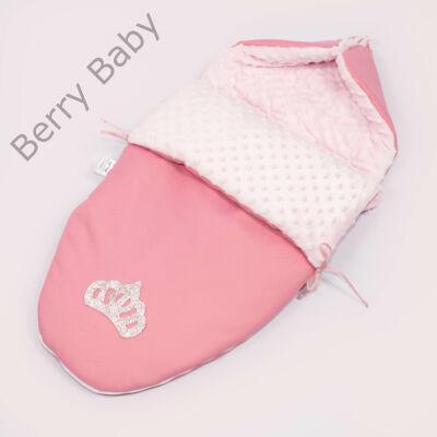 Berry Baby Crown bundazsák: 04/A- Pink Bubble -babahordozó autós ülésbe és mózesbe-