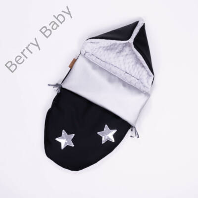 Berry Baby Crown bundazsák: 10. Silver Star -babahordozó autós ülésbe és mózesbe- ECO bőrből