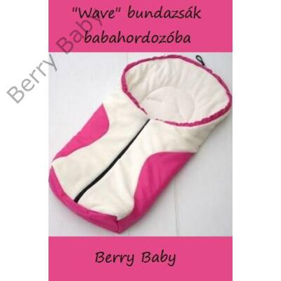 Berry Baby wave babahordozó bundazsak: feher-pink