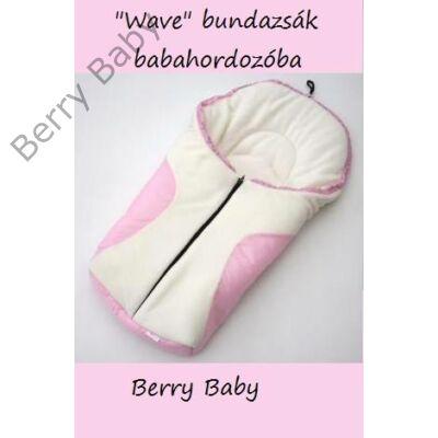 Berry Baby Wave babahordozó Bundazsák: rózsaszín-fehér