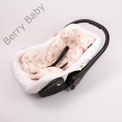 Berry Baby Flanel újszülött szűkítőbetét babahordozóba 0-4 hó: rózsaszín macis  (univerzális)