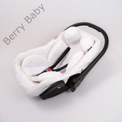 Berry Baby Minky újszülött szűkítőbetét babahordozóba 0-4 hó: fehér  (univerzális)