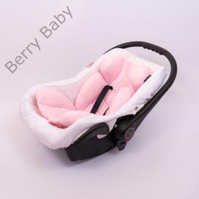 Berry Baby Pamut újszülött szűkítőbetét hordozóba 0-4 hó- BABARÓZSASZÍN  (univerzális)
