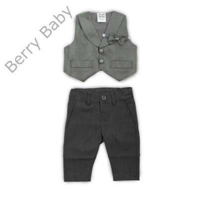 Alkalmi kisfiú ruházat-szürke