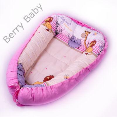 Rózsaszín szafaris babafészek