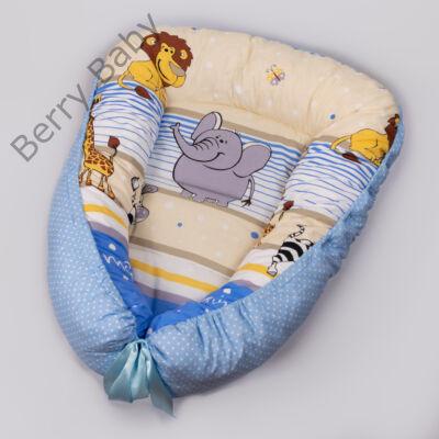 Kék szafaris babafészek