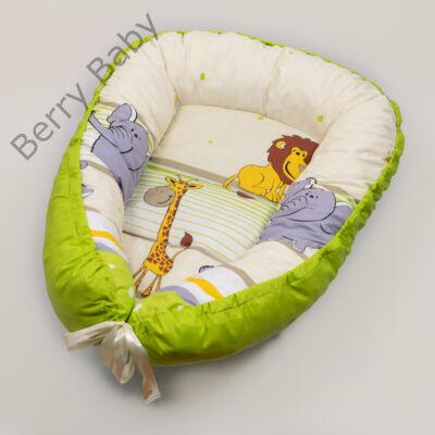 Zöld szafaris babafészek