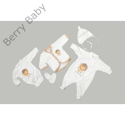 Prémium 5 részes hazahozós ruha szett- LION- 50 (újszülött)