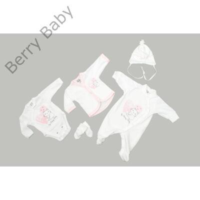 Prémium 5 részes hazahozós ruha szett- LOVELY CAT- 50 (újszülött)